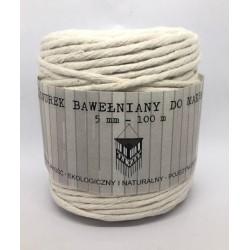 sznurek bawełniany makrama śr.5mm