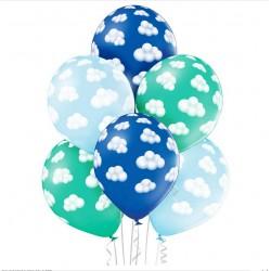 balon chmurki chłopiec 6szt