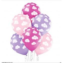 balon chmurki dziewczynka 6szt