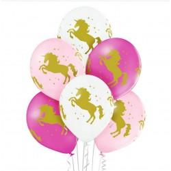 balon jednorożce 6szt