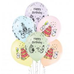 balon happy birthday 6szt