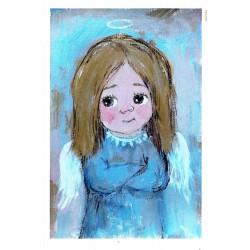 papier cienki A-5 3795 dziewczynka anioł