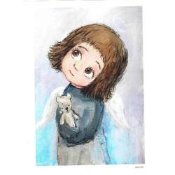papier cienki A-5 2195 dziewczynka z mis