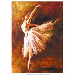 ***papier ryżowy 21*29,7 cm baletnica
