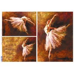papier ryżowy 32*45 cm baletnice