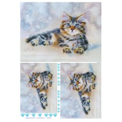 papier ryżowy 32*45 cm kot syberyjski