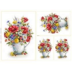 papier ryżowy 32*45 cm maki wazon