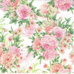 serwetka 33*33 K209 wiązanki róż