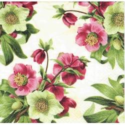 serwetka 25*25 K210 fuksjowe kwiaty mini