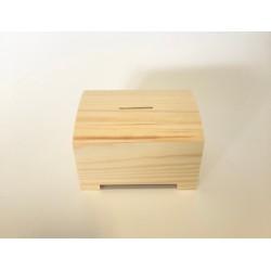 skarbonka z zasuwką 12,5*9,5*8cm
