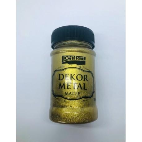 pentart farba dekor metal do mebli złota 100ml