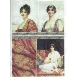 papier ryżowy A-4 R1843 portrety kobiet orient