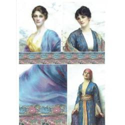 papier ryżowy A-4 R1842 portrety kobiet orient