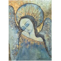 papier ryżowy A-4 R42 anioł niebieski