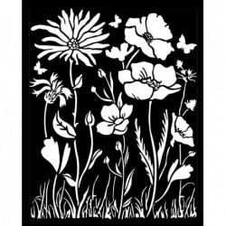 szablon 3D 20*25 cm KSTD072 łąka kwiatowa