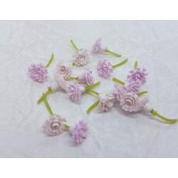 środki do kwiatów mini koszyczki jasno różowe