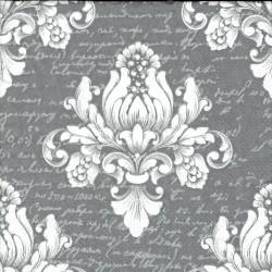 serwetka 33*33 I135 barok szary pismo