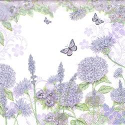 serwetka 33*33 K213 fioletowe kwiaty