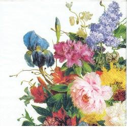 serwetka 33*33 K214 kwiaty ogrodowe na b
