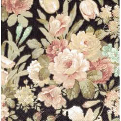 serwetka 33*33 K216 kwiaty na czarnym tl