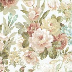 serwetka 33*33 K217 kwiaty na kremowym t