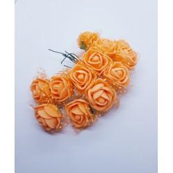 kwiat pianka z siatką 2,5cm pomarańcz pę