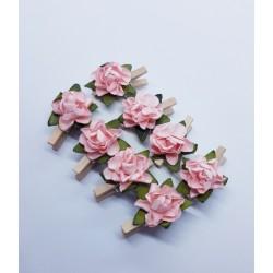kwiatki klamerki jasny róż