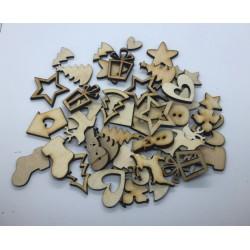 mix mini dekoracji świątecznych 3cm/ 50szt