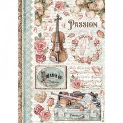 papier ryżowy A-4 DFSA4621 new style passion muzyk