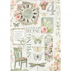 papier ryżowy A-4 DFSA4619 new style hpuse of rose