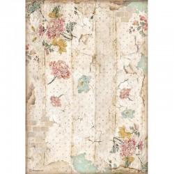 papier ryżowy A-4 DFSA4603 alice patchwork  tekstu