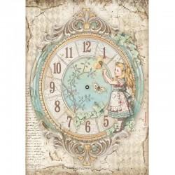 papier ryżowy A-4 DFSA4602 alice zegar