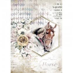 papier ryżowy A-4 DFSA4580 romantic horses dziewcz