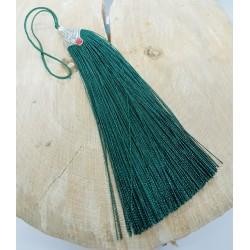 ***chwost dekoracyjny 11 cm zieleń szmaragd
