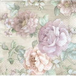 ***serwetka 33x33 K222 bukiet kwiatów vintage