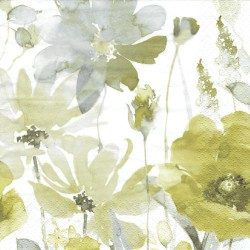 ***serwetka 33x33 K220 akwarelowe zielone kwiaty