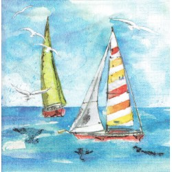 ***serwetka 33x33 I136 statki na morzu