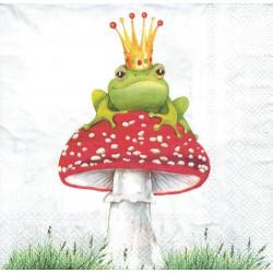 ***serwetka 33x33 I139 muchomor z żabą
