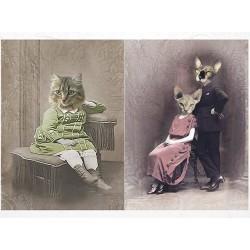 papier ryżowy A-4 R 1820 dostojne koty