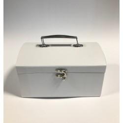 kuferek tekturowy biały średni