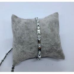 taśma zdobna srebrna z cyrkonią cena za 1m