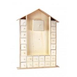 kalendarz domek adwentowy 66,5*47*6,5 cm