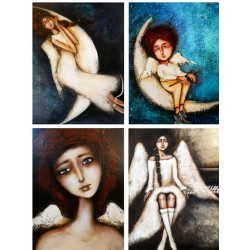 papier SOFT A-4 R20 anioły 4 obrazki
