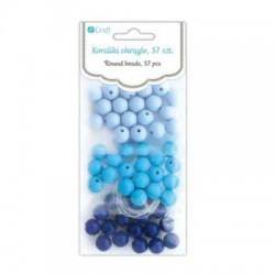 koraliki okrągłe blue-57 szt