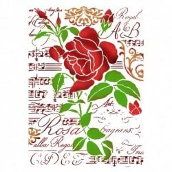 szablon 21*29,7 KSG419 róża i muzyka