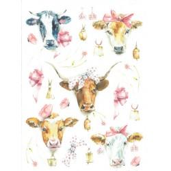 papier ryżowy A-4 kod 0158 malowane krowy
