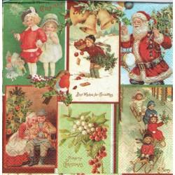 serwetka 33x33 BN276 świąteczne obrazki