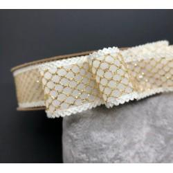 wstążka metalizowana złoto 2,5cm