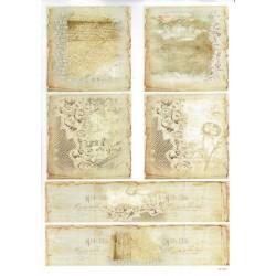 ***papier cienki A-4 1691 pismo koronka