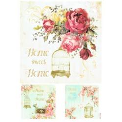 ***papier cienki A-4 1706  home sweet home